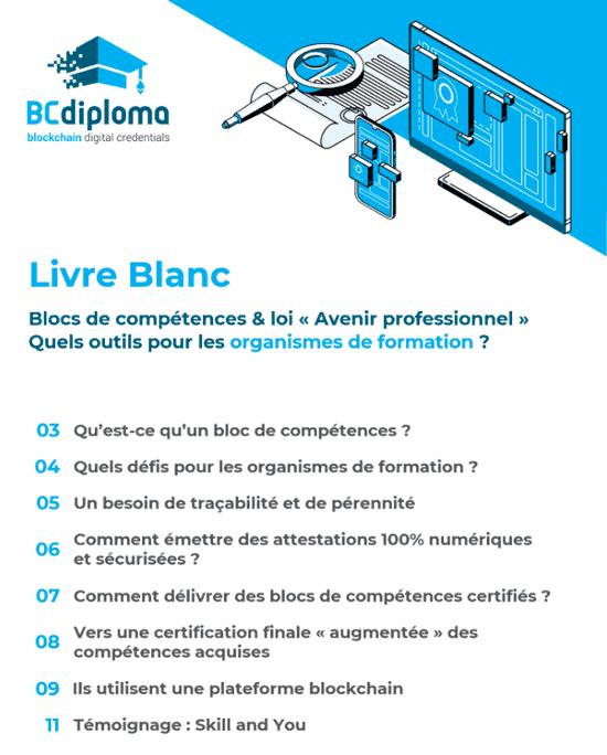 Livre blanc: Blocs de compétences & loi « Avenir professionnel ». Quels outils pour les organismes de formation ?
