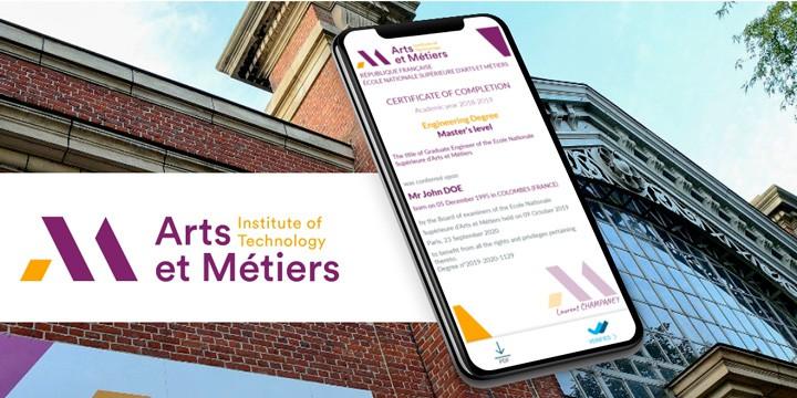 Arts et Métiers digital credential BCdiploma