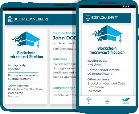 Visual of an open badge BCdiploma