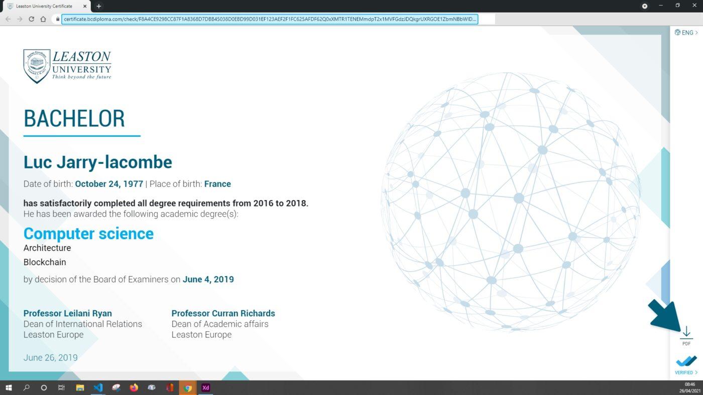 BCdiploma certificate PDF