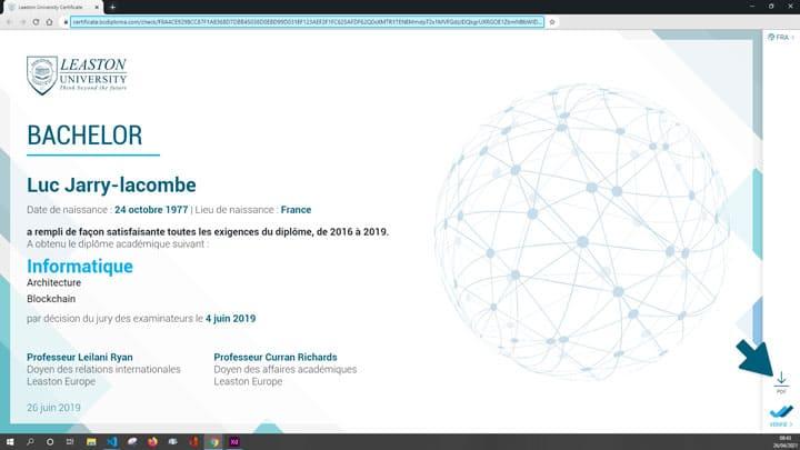 Pdf sur le certificat