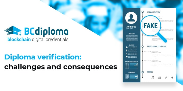 Diploma verification: challenges and consequences