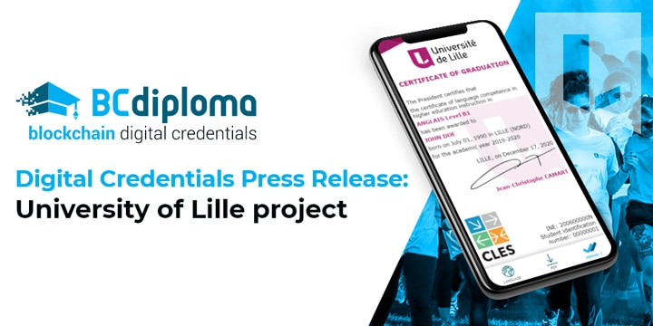 Digital Credentials Press Release: University of Lille – France project