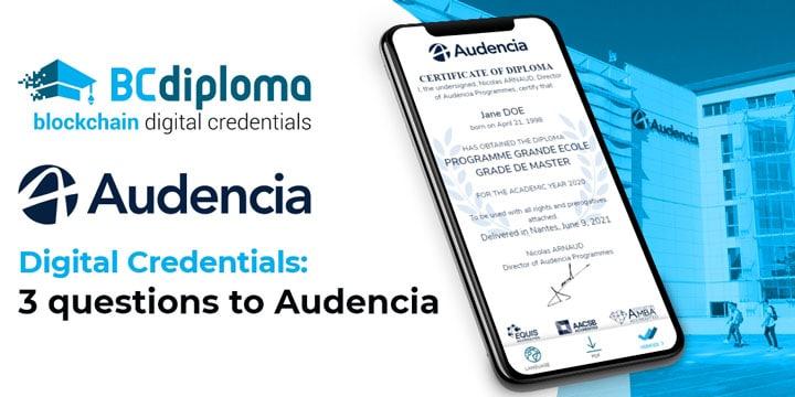 Digital Credentials: 3 questions to Audencia