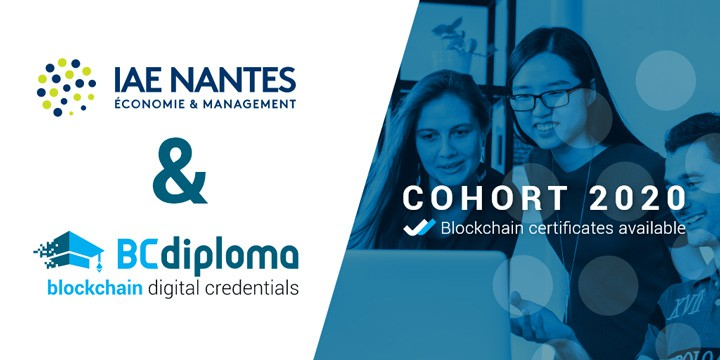 Blockchain Credentials examples: IAE Nantes project