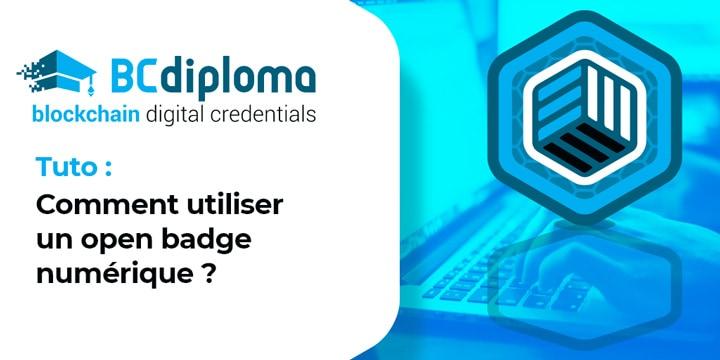 Tuto : Comment utiliser un open badge numérique ?
