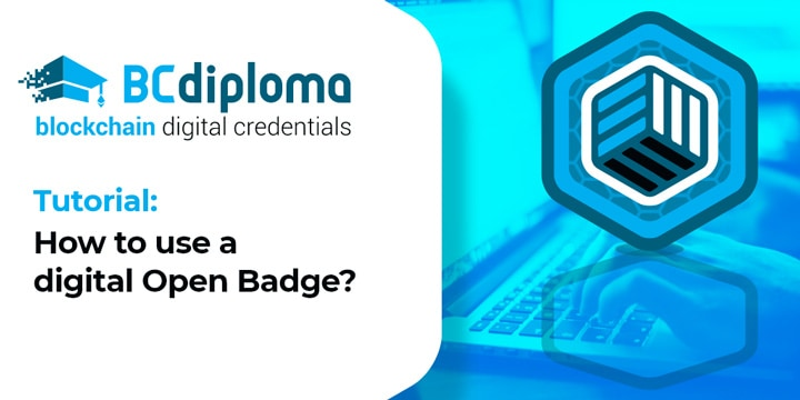 Tutorial: How to use a digital Open Badge?