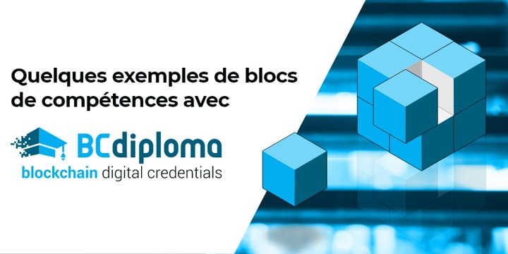 Quelques exemples de blocs de compétences avec BCdiploma